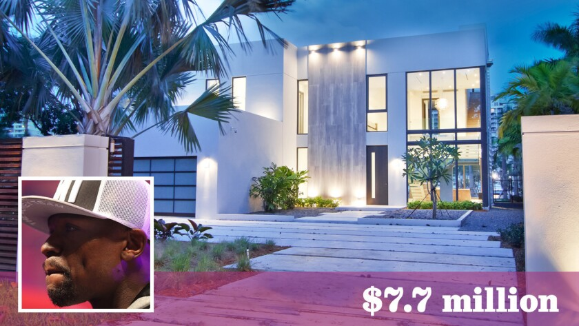 Retired boxer Floyd Mayweather Jr. has paid $7.7 million cash for a home in Miami Beach.