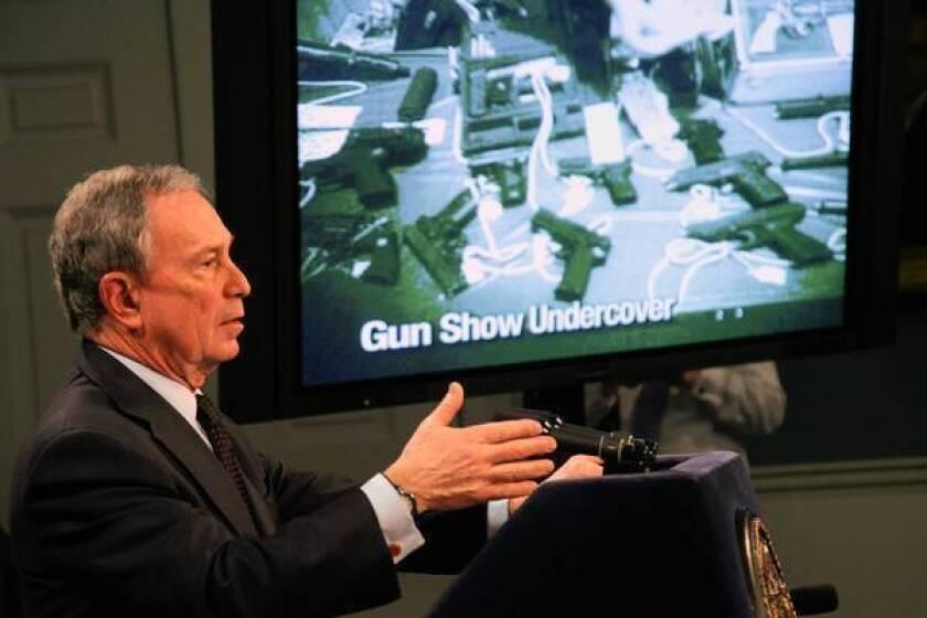 Bloomberg at center of gun control debate