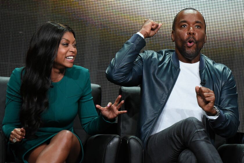 """Actress Taraji P. Henson, left, and creator/writer/executive producer Lee Daniels during the """"Empire"""" panel discussion at the FOX portion of the 2015 Summer TCA Tour on Thursday in Beverly Hills."""