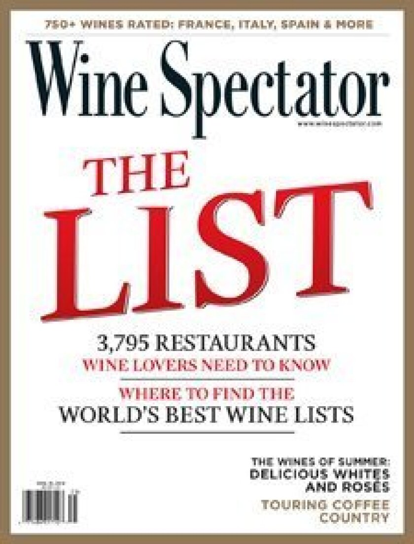 The Wine Spectator August 31 issue.