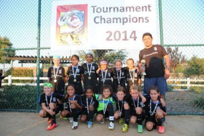 Congratulations to the Surf Soccer Club Academy GU9 team who took first place in the 2014 Murrieta Surf Summer Classic (Girls U9 flight 2) on Aug. 9-10.