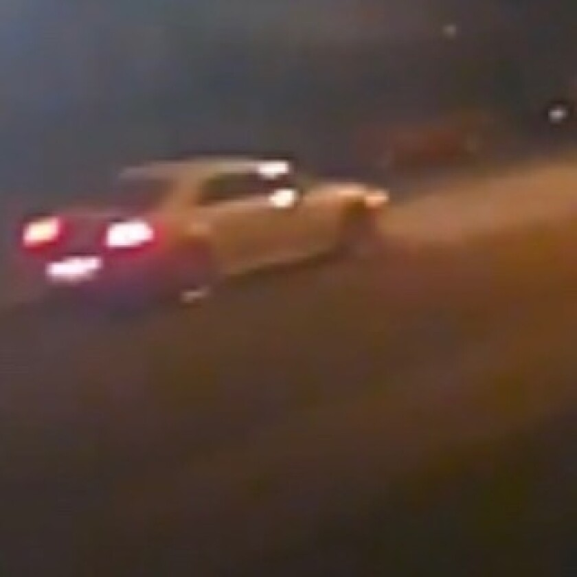 Coronado police believe the white car seen in this photo is related to a spate of BB gun incidents in Coronado early Sunday.