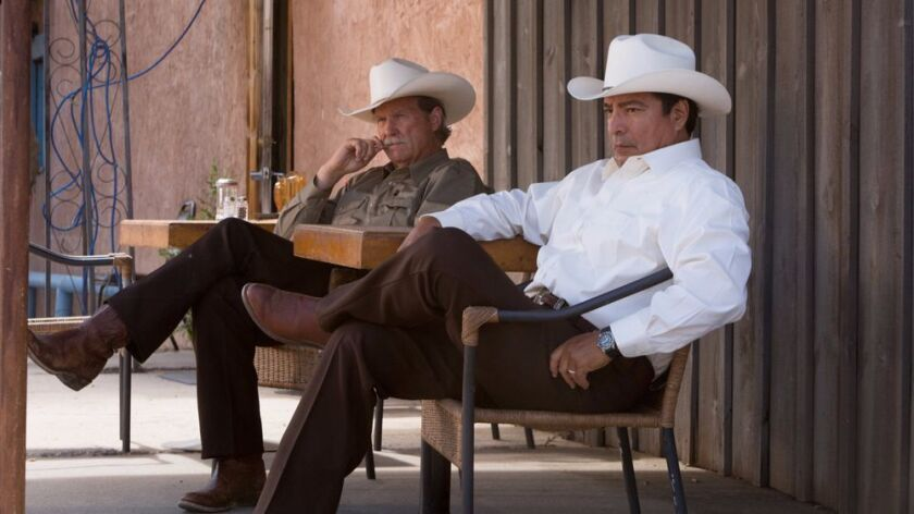 "Marcus (Jeff  Bridges) and Alberto (Gil Birmingham) in ""Hell or High Water"""