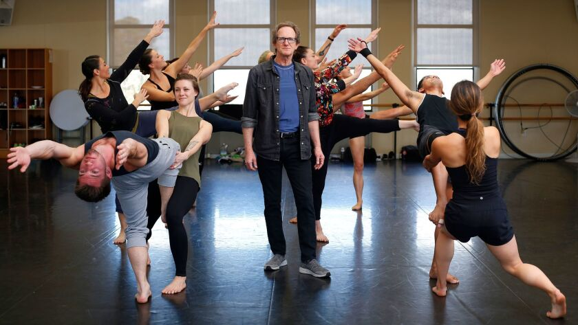 """Dancer and choreographer John Malashock, center, and his dance company will celebrate its 30th anniversary with """"The Ride: Malashock@30""""€ at the Lyceum Theatre."""