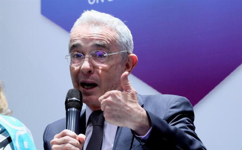 El expresidente de Colombia, Álvaro Uribe. EFE/Archivo