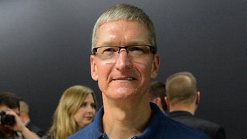 Apple CEO Tim Cook. The company has been criticized for what some see as actions intended to appease China.