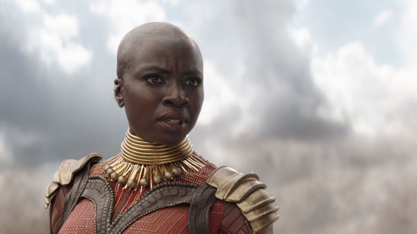 Marvel Studios' AVENGERS: INFINITY WAR Okoye (Danai Gurira) Photo: Film Frame ©Marvel Studios 20