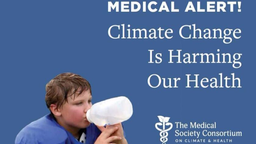 A political activist consortium of medical groups says global warming is harming health.