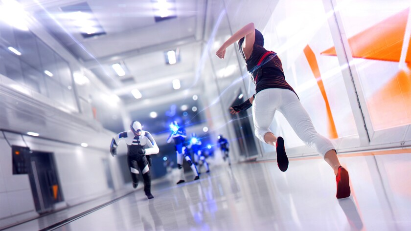 """The high-gloss, sci-fi world of """"Mirror's Edge Catalyst"""" centers around the chase for wealth, new gadgets and higher status that has siphoned power to too few,"""