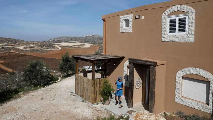 Airbnb is excluding listings for rentals, such as this one, in Israeli settlements in the West Bank.