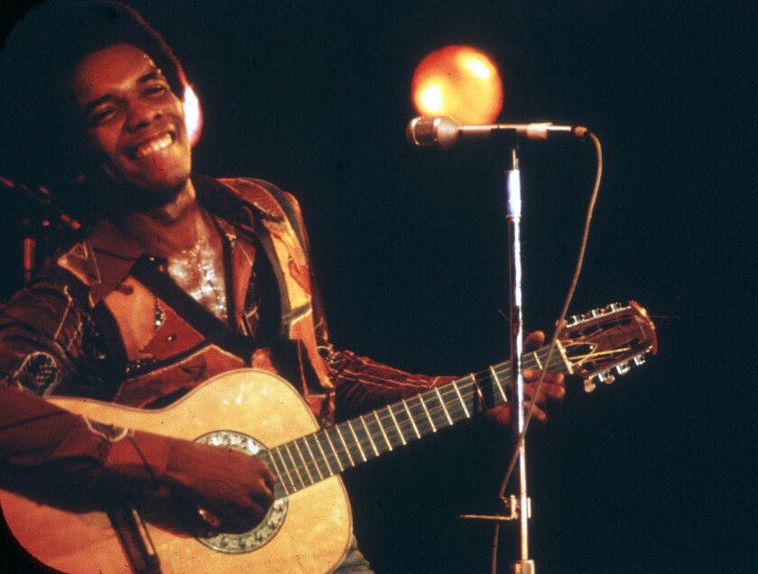 Johnny Nash performs in the 1970s