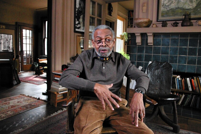 """Once called the world's finest living poet by Maya Angelou, Amiri Baraka, shown last year, received similar plaudits from Norman Mailer and other writers. In 1964, his one-act drama """"Dutchman"""" won an Obie Award as the season's best off-Broadway American play."""