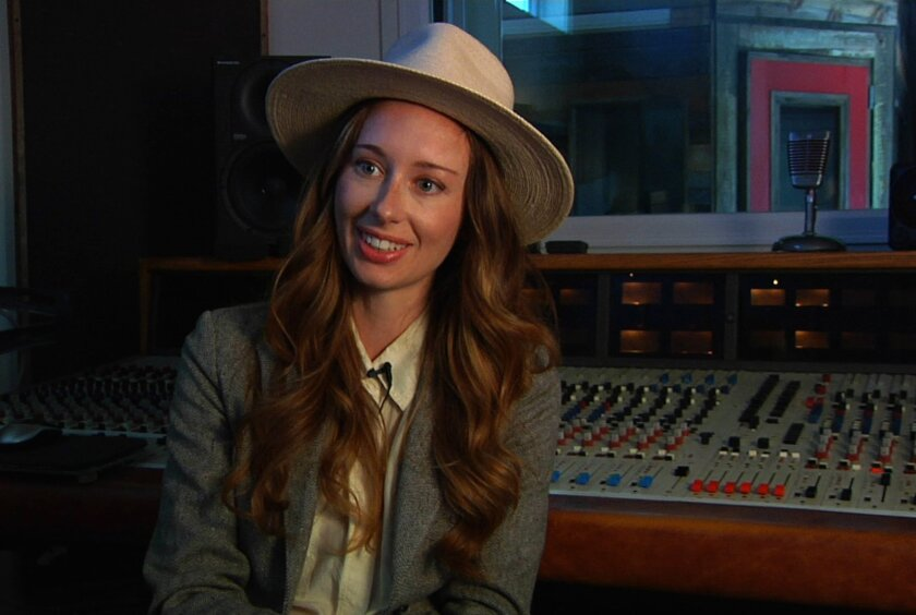 """In this Oct. 22, 2015 image taken from video, singer Lera Lynn appears during an interview in Nashville, Tenn. Lynn was selected by producer and composer T. Bone Burnett to help write and sing the songs that set the mood for the dark critically acclaimed series """"True Detective,"""" starring Vince Vaughan and Colin Farrell. Now that the show is over, Lynn has returned her focus on working on her next album and touring in the United States and overseas. Lynn's last album, """"The Avenues,"""" released in 2014, is a mix of Americana and country and her voice has a heavenly whisper that invokes comparisons to Joy Williams of The Civil Wars. Her next album, produced by Joshua Grange, is due out early next year. (AP Photo)"""