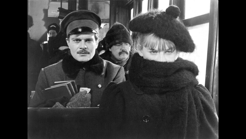 """Omar Sharif and Julie Christie appear in """"Doctor Zhivago"""" in 1965."""