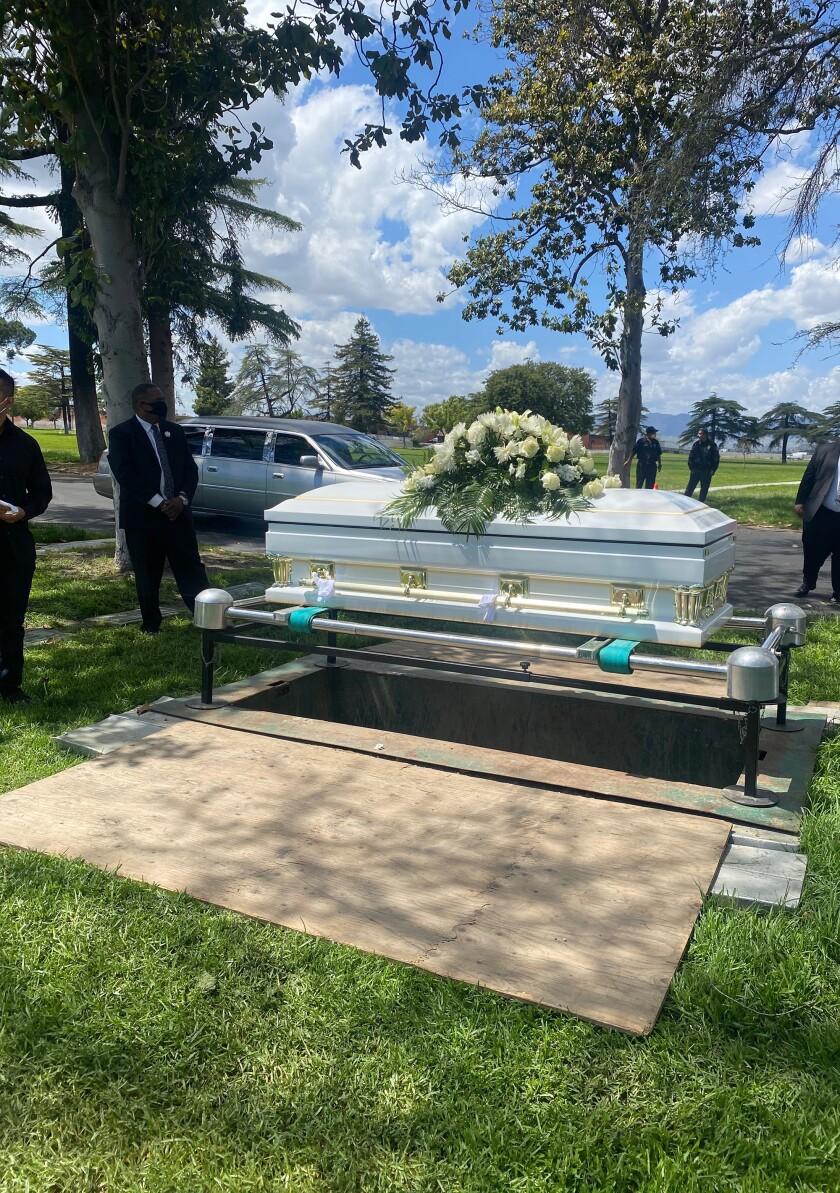 Gaspár Gómez's coffin