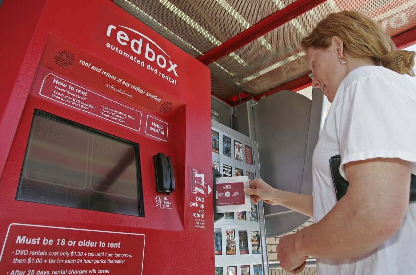 Rentals through companies such as Redbox, which last year was the only category of rentals to grow, fell 4%.