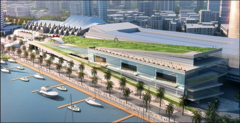 The $520 million convention center expansion will 740,000 square feet and include a rooftop park.