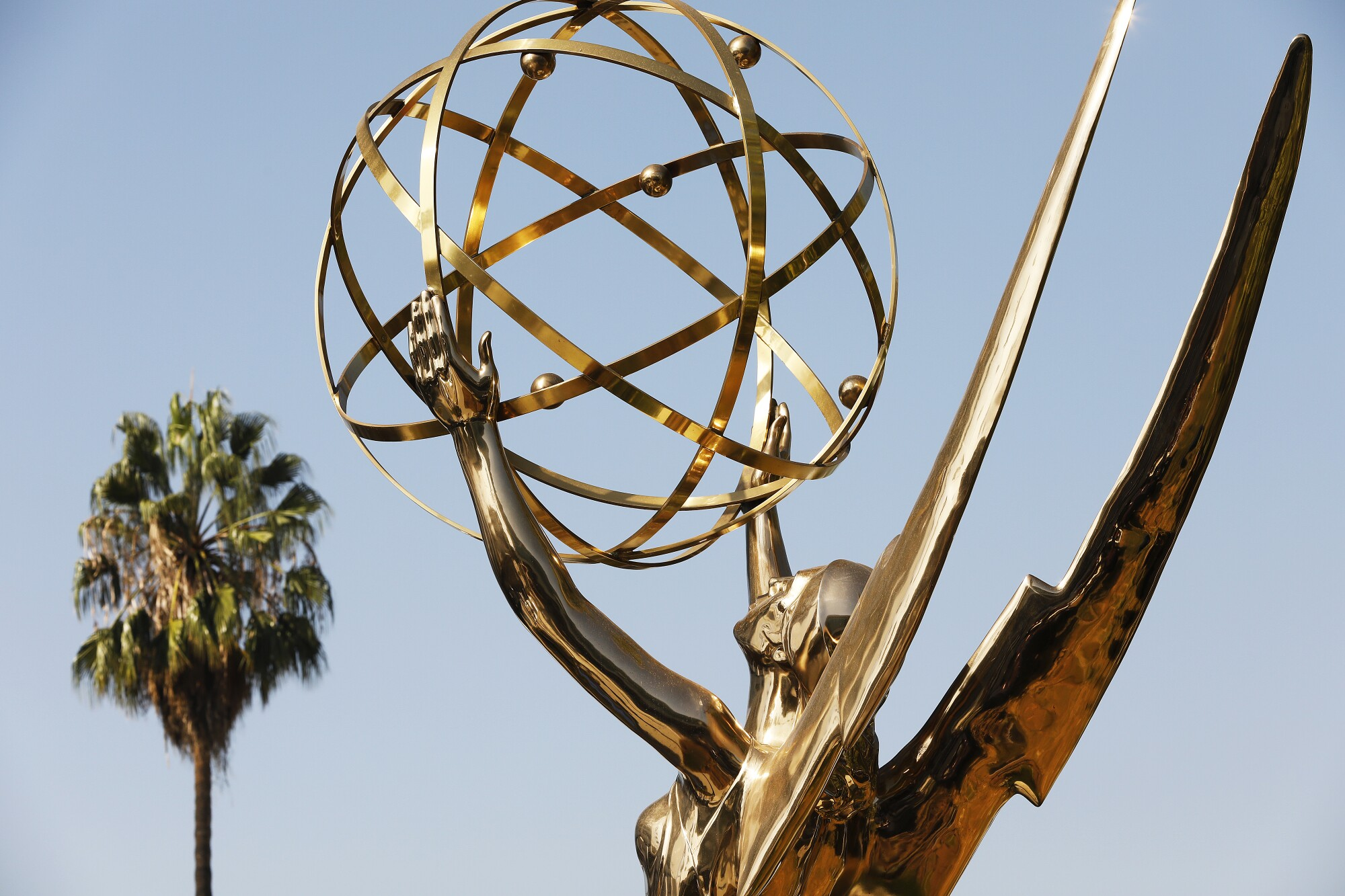 A palm tree and Emmy Awards statue