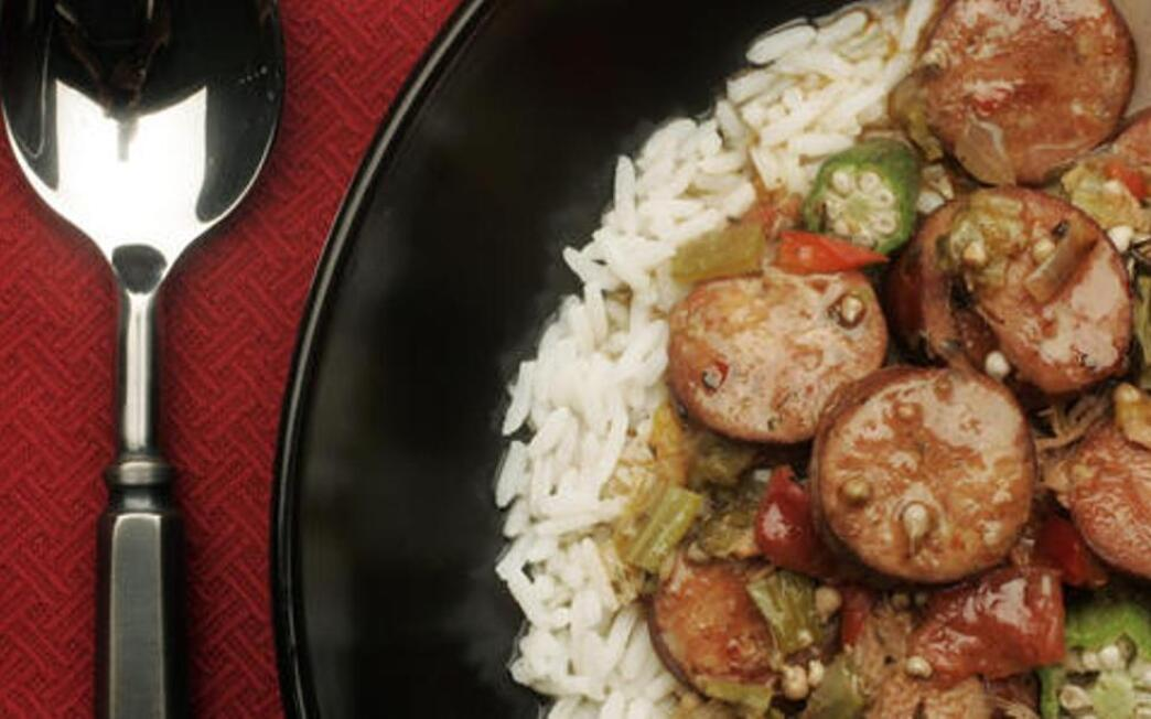 Duck and okra gumbo
