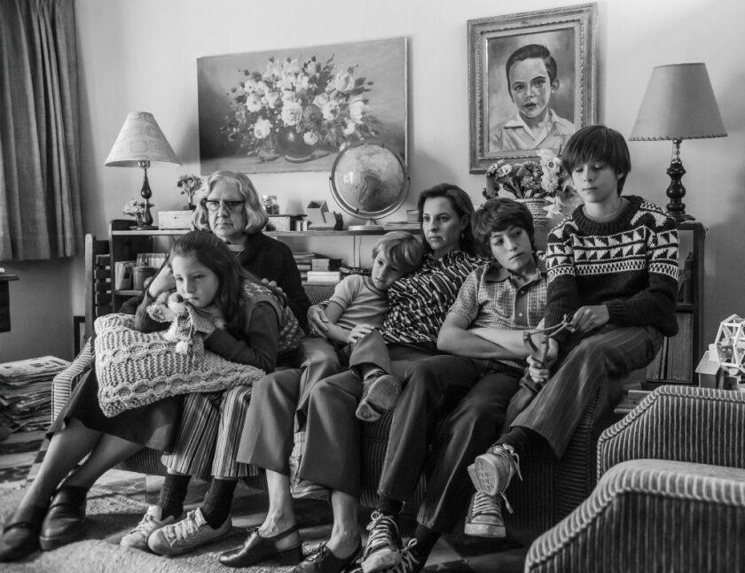 Theh film features, from left, Verónica García, Daniela Demesa, Marco Graf, Marina de Tavira, Diego Cortina Autrey and Carlos Peralta Jacobson.