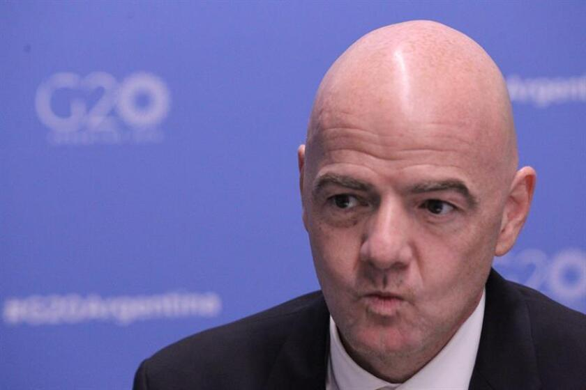 El presidente de la FIFA, GIanni Infantino. EFE/Archivo
