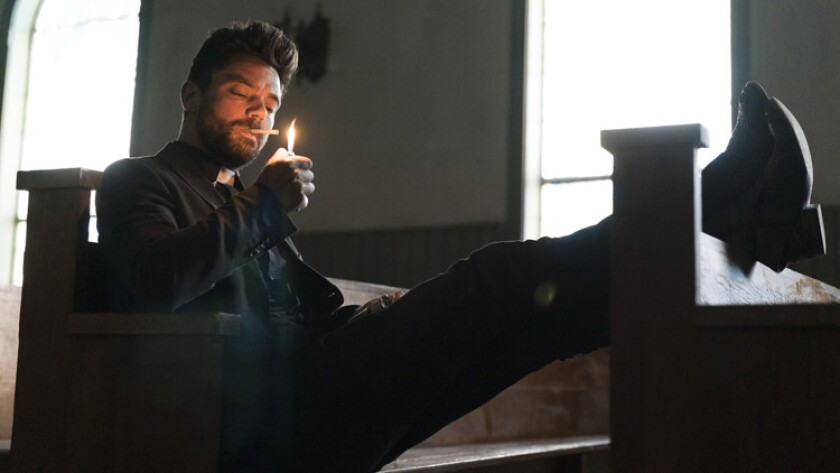 """Dominic Cooper stars in the new supernatural drama """"Preacher"""" airing on AMC."""