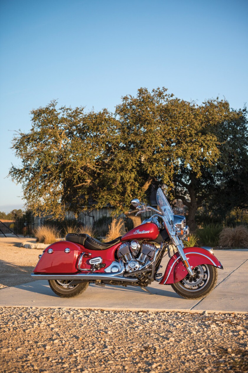 Taking aim at dominant Harley Davidson, Indian Motorcycle has unveiled its Springfield, a direct competitor to Harley's Road King.