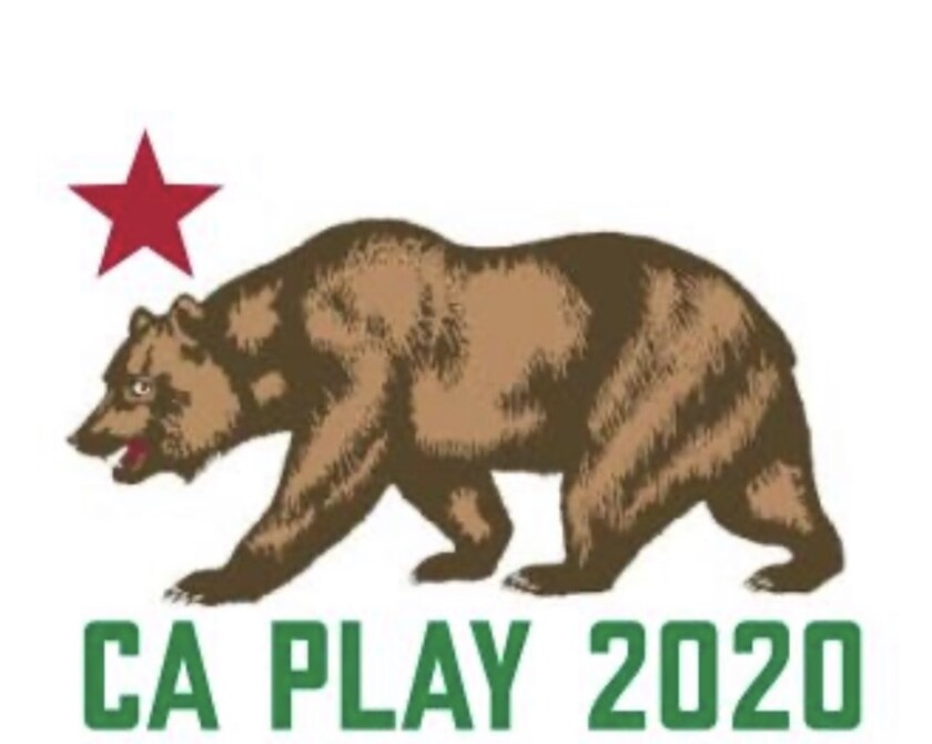 """Logo of a bear and a red star with """"CA Play 2020"""" under it."""