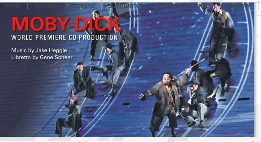 San Diego Opera will use visual effects to stage Jake Heggie's 'Moby-Dick' in February. COURTESY of san diego opera