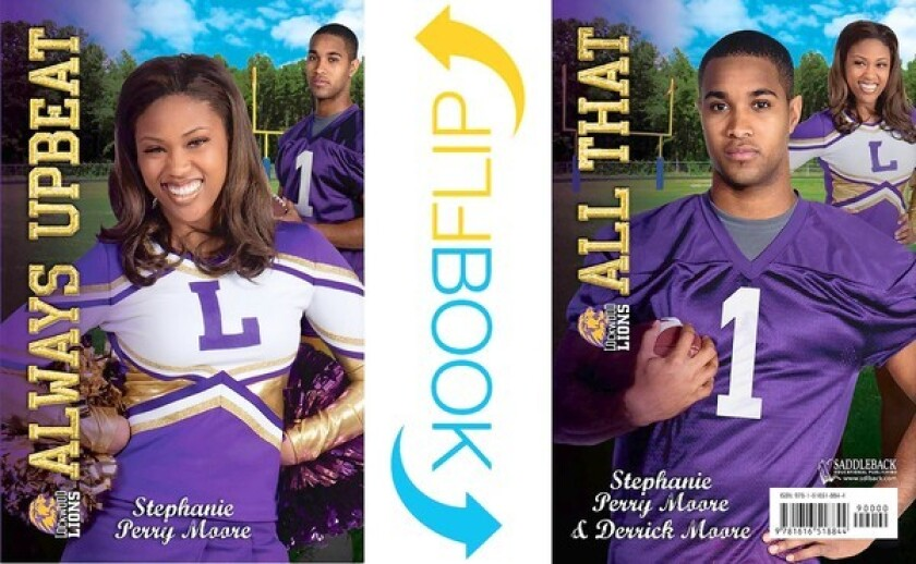 The covers of the Urban Flip Books 'Always Upbeat' and 'All That.' The books are told from two perspectives: a girl's and a boy's.