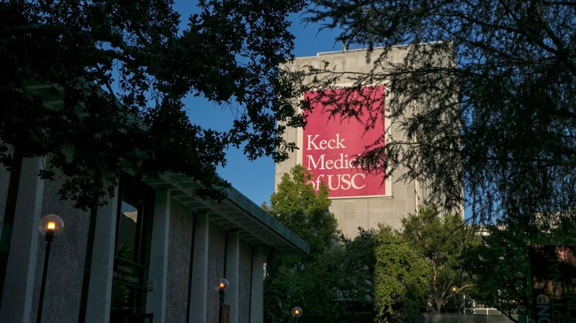 LOS ANGELES, CA, WEDNESDAY, JULY 12, 2017 The campus of the USC Keck School of Medicine. The Consta