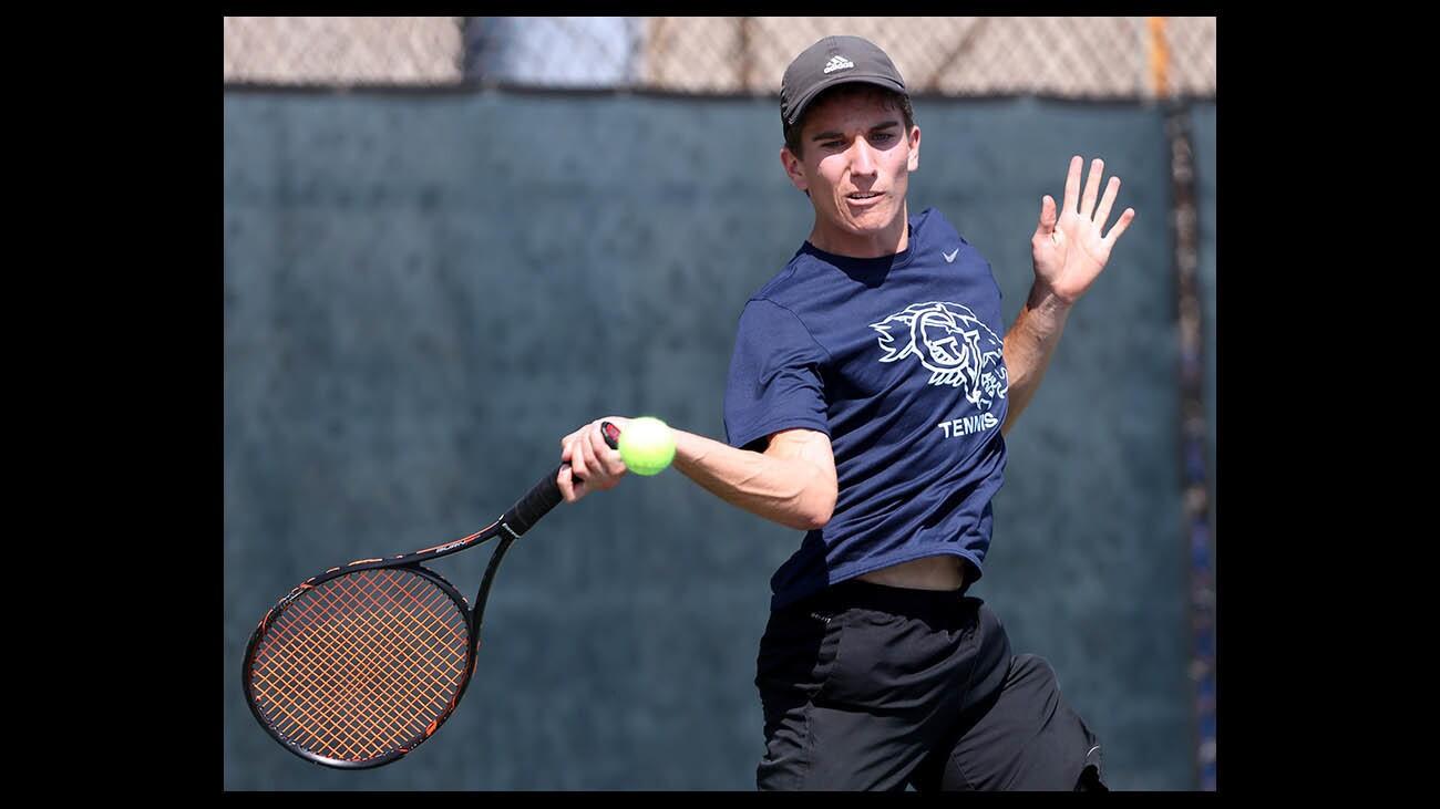 Photo Gallery: Crescenta Valley boys tennis vs. St. Francis