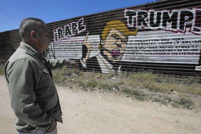 Anti-Trump mural is a tourist attraction in Tijuana