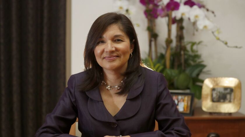 LOS ANGELES, CALIF. - FEB. 28, 2019. Maria Salinas is the first woman and the first Latina to run th