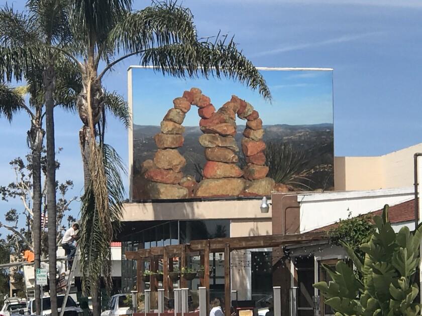 """Murals of La Jolla: Roman de Salvo's """"McCairn."""""""