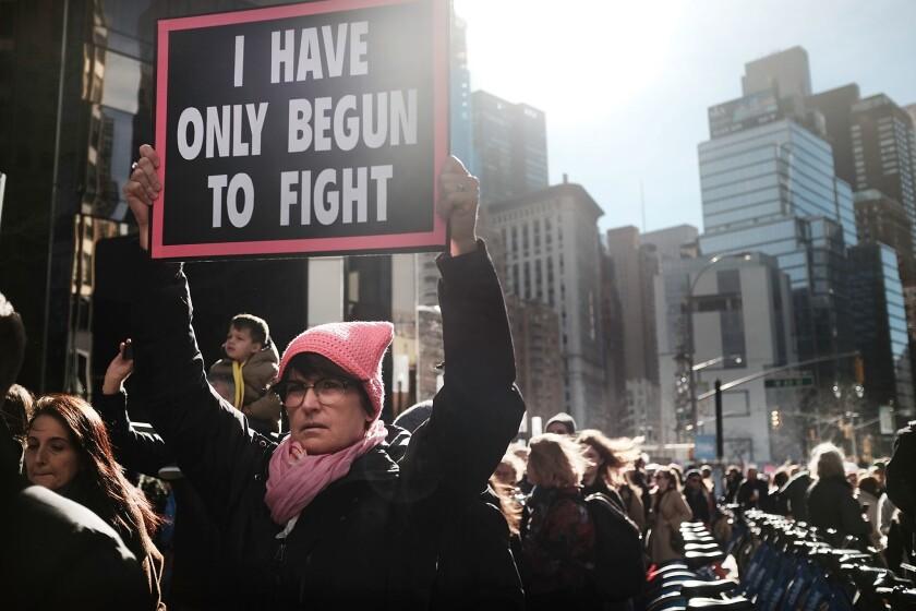 Women's March in New York in 2018