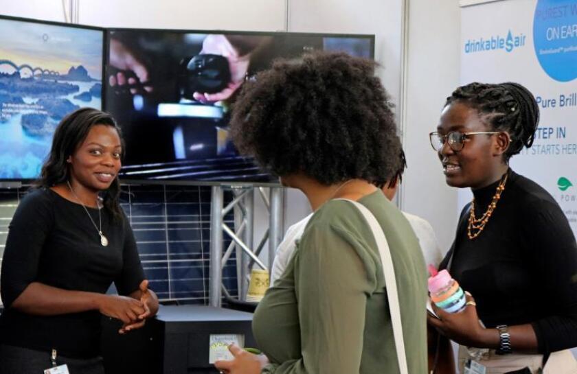 Varias mujeres a su llegada a la IV Asamblea de Medio Ambiente de la ONU (UNEA-4) que se celebra en Nairobi. EFE