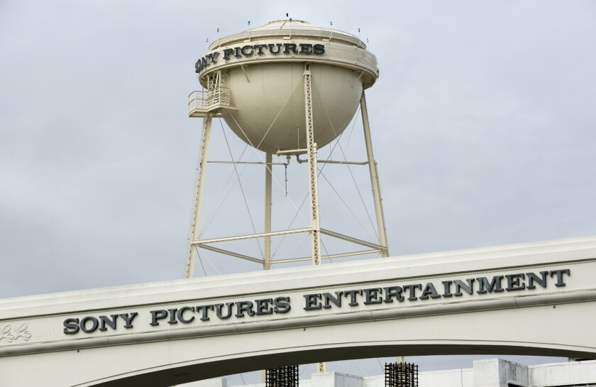 Sony Pictures Entertainment studio lot entrance in Culver City.