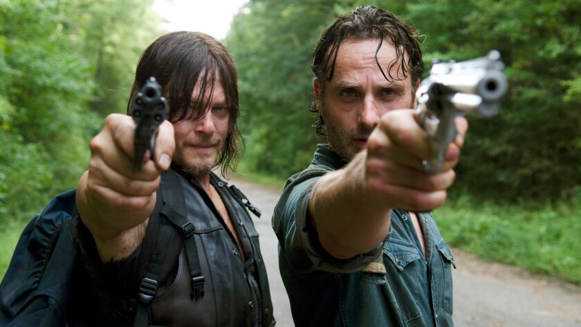 """Andrew Lincoln and Norman Reedus star in """"The Walking Dead."""""""