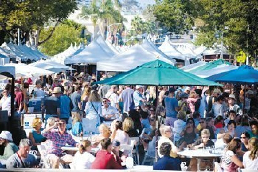 The crowd at the 2010 La Jolla Art and Wine Festival. Photos by Stephen Simpson