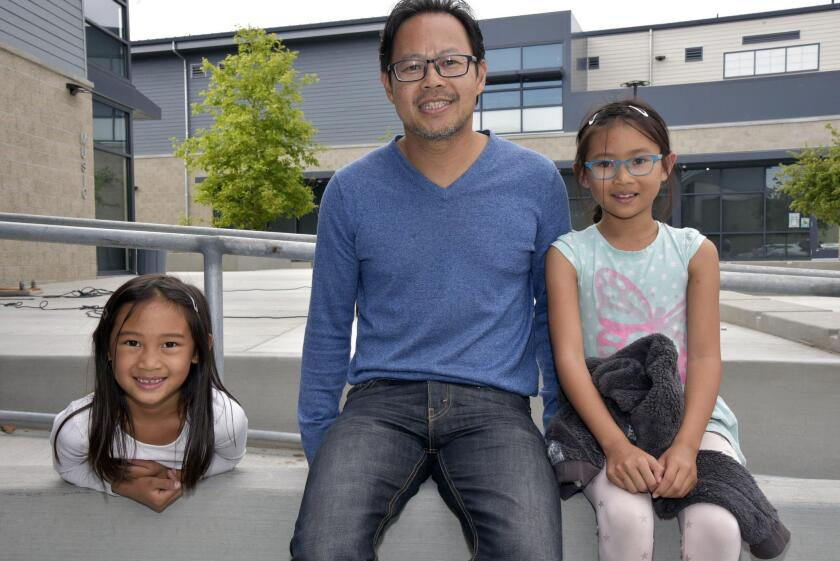 Louie Nguyen with Paloma and Naomi