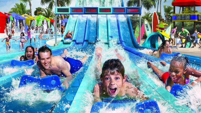 Riptide Racers is a new water slide at Legoland California that lets rider race each other.