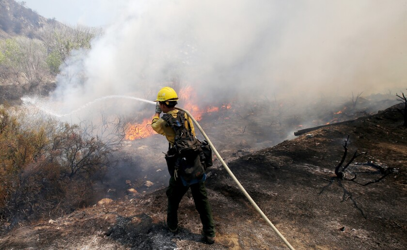 Sand fire: In praise of the firefighters working in extreme heat