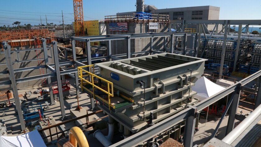 Construction of the Carlsbad Desalination Project by Poseidon Water, is on schedule, slated to be open and operating November of 2015. The plant will supply 7-10% of the water supply to San Marcos via underground pipes.  Carlsbad Desalination Project is predicted to be, at 50-million gallons p