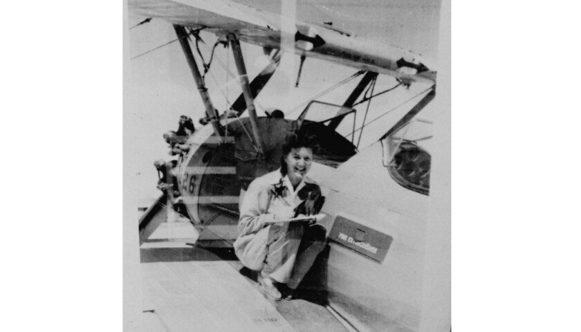 Elaine Harmon flew for the Women Airforce Service Pilots during World War II. Her death inspired legislation that would allow her fellow pilots to be buried at Arlington National Cemetery.