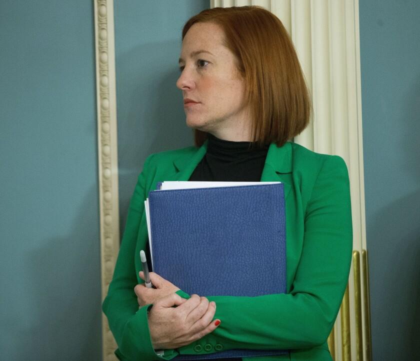 Jen Psaki, portavoz del Departamento de Estado, participa el viernes 27 de febrero de 2015 en una reunión, en Washington.