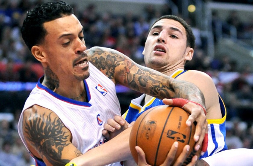 Matt Barnes, Klay Thompson