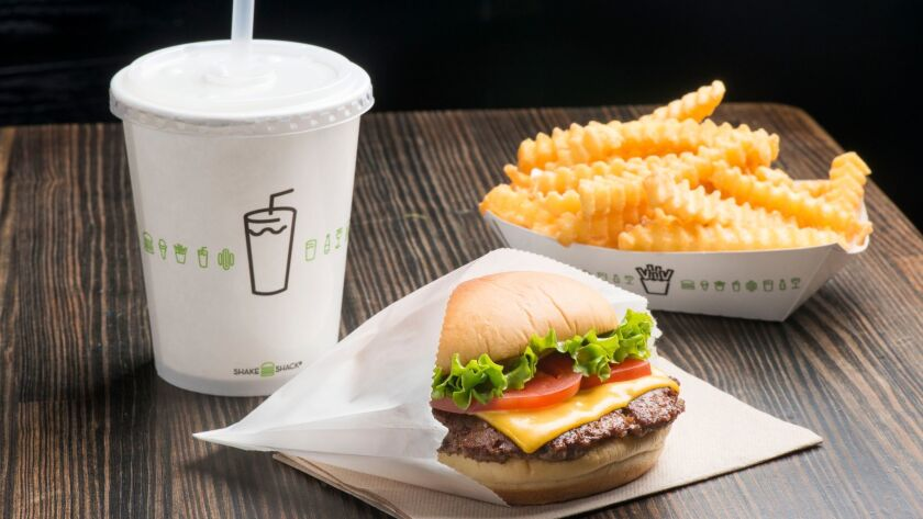 A patty of specially ground beef is, for some aficionados, heaven on a bun. Shake Shack, which grew from a hot dog stand in Manhattan, is to open at LAX's Terminal 3 in the fall.