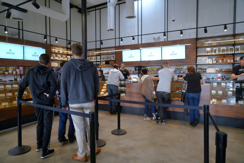 On the first day of recreational marijuana sales in San Diego one location, Urbn Leaf served as many