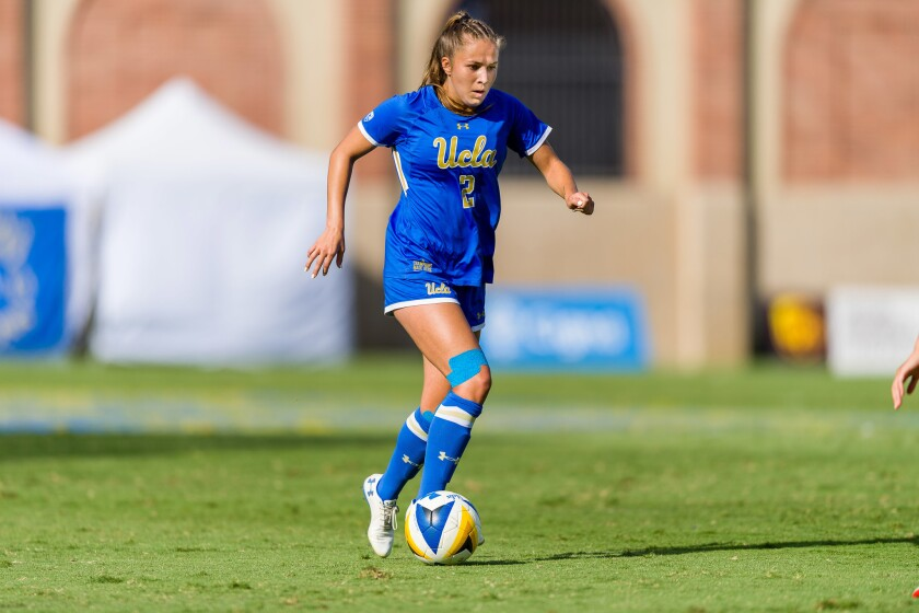 UCLA's Ashley Sanchez picked up two assists in the Bruins' 4-2 win over USC, giving her 39 for her career to break Iris Mora's 14-year-old school record.